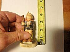 Pp-vintage Goebel hummel figurine -Little Hiker # 76 2/0 with stylized bee