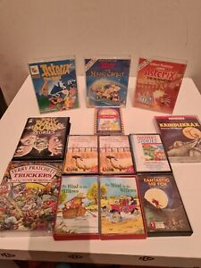 13 CHILDREN'S AUDIO BOOK CASSETTE TAPES ASTERIX MATILDA THE WIND AND THE WILLOWS