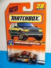 Matchbox 1998 To The Rescue Series #28 Crown Victoria Police Car Black