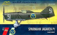 Ardpol Models 1/72 SPARMANN JAGAREN P-1 Swedish Fighter