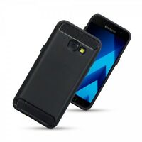 Galaxy A3 2017 Impact Surface Displacement Carbon Composite Material Case Black