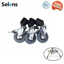 Selens 3Pcs Photo Studio Heavy Duty Universal Caster Wheel f Light Stands& Boom