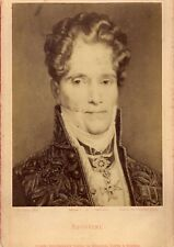 Opera, composer Spontini photography , autograph 1880 Cabinet cdv