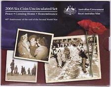 2005 Australia Six Coin Uncirculated Set***Collectors***