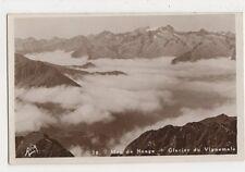 France, Les Pyrenees, Mer de Nuage, Glacier du Vignemale RP Postcard, B366