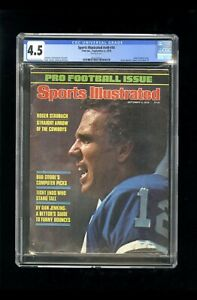 SPORTS ILLUSTRATED NEWSSTAND 1978 ROGER STAUBACH CGC 8.5 FIRST PRO COVER