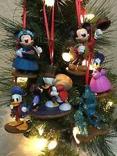 Disney Christmas Ornament 6pc Set Mickey Mouse A Christmas Carol's PVC