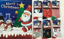 6x Christmas Xmas Kids Childrens Festive Snow Man Santa Socks Special Offer