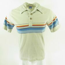 Vintage 70s Ocean Pacific Surf Skate Shirt Mens L Board Stripe Gray Embroidered