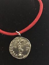 "Denarius Of Galba Coin WC73 Fine English Pewter On a 18"" Red Cord Necklace"