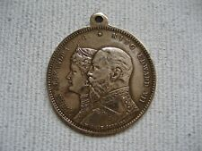 Souvenir Medal - Royal Visit King Edward VII Queen Alexandra - Germany - Signed
