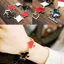 HIP-HOP Poker Playing Cards Club Heart Bracelet bangle Jewelry 3 shape
