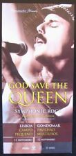 Queen tribute Band - God Save the Queen - Lisbon 201 concert promo flyer