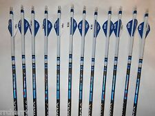 12- Carbon Express Maxima BLU RZ  350 Custom Crested Arrows Bohning Blazer Vanes