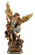 """3"""" St. Michael the Archangel - Detailed Painted Woodcarving by PEMA Woodcarvings"""
