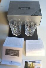 "2 Waterford Crystal Millenium ""HEALTH Toasting  Double Old Fashions .NEW IN BOX"