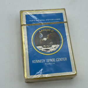 Vintage Apollo 11 Kennedy Space Center Playing Cards - Sealed
