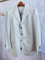 Ing Loro Piana Men's 42R Cashmere Silk Cloud Gray Plaid Blazer Jacket