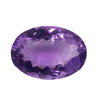 Cts. 11.80 Natural Brazil Untreated Amethyst Color Shift Oval Cut Gemstone 17X12