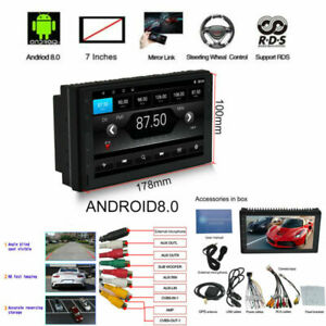 "7"" 2DIN Android 8.0 Car MP5 Player GPS HD Touch Screen Multi-language Mirro Link"