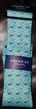 American Lifestyle Sperm Whales 100% Microfiber Tie in Light Teal