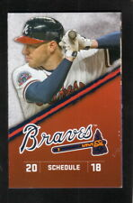 Freddie Freeman & Ender Inciarte--2018 Atlanta Braves Pocket Schedule--Harrah's