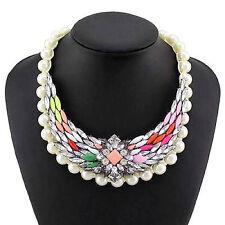 Markenlose Modeschmuck-Halsketten aus Edelstein und Metall-Legierung