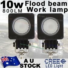 2X Cree LED 10W Flood Work Light Car boat Truck Driving Square 12V 24V AU Stock