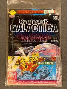Battlestar Galactica Comics #1 #2 #3 Whitman/Marvel poly-bagged