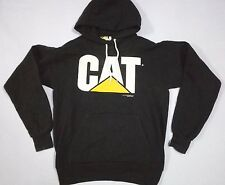 VINTAGE 90s CAT CATERPILLAR BIG LOGO HOODIE SWEATSHIRT 50/50 USA SHIRT M