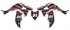 (B) RACING DECAL STICKER Kit En Vinilo Mx Se Ajusta Honda TRX 450R 450 (no OEM)