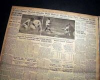 Best BABE RUTH New York Yankees Baseball 3 HRS Home Runs w/ Photo 1933 Newspaper