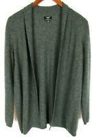 Talbots Petites Womens 100% Pure Cashmere Shawl Sweater Gray Small Cardigan