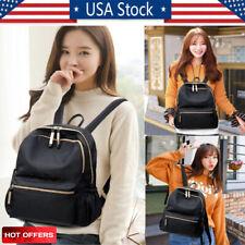 Fashion Women School Backpack Travel Oxford Handbag Shoulder Bag Rucksack Black