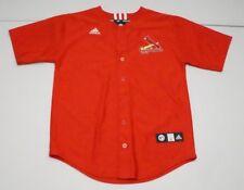 Adidas Boys Youth L Red MLB St Louis Cardinals Baseball Jersey