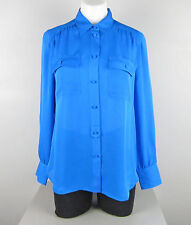 NWT J Crew New Blythe top in silk georgette Size 6 Crisp Azire SP17 $98 G1554