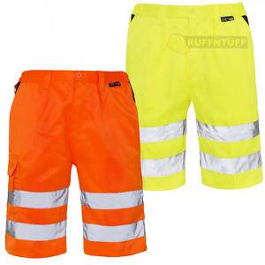 Hi Vis Shorts High Visibility Hi Viz Work Wear Cargo Polycotton Pants EN471