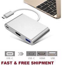 USB-C HUB Digital Multi Port Adapter USB 3.1 Type-C to HDMI 4K USB 3.0 for Mac