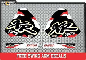 HONDA XR400 XR250 tank Replacement Graphics DecalS  1996 to 2006 XR 600 400