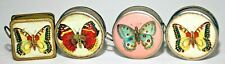 VINTAGE LOT OF FOUR (4) ROUND BUTTERFLY TAPE MEASURES