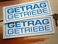 "GETRAG GETRIEBE Racing Car STICKERS 8"" Pair BMW CSL Batmobile 2002 Race Rally"
