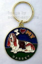 I Love My BASSET HOUND Dog  Key Ring  Key Chain Keychain Great gift! Animal Pet