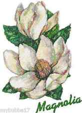MAGNOLIA STUNNING SET OF 2 HAND TOWELS EMBROIDERED