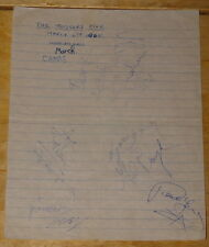 THE TOGGERY FIVE ~ RARE FULLY HAND SIGNED PAGE SHEET ~ AUTOGRAPH 1965 ~ MOD BEAT