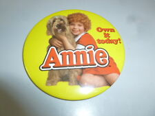 "Annie Movie Pin Back 3"" Button Quick Careful Free Shipping From 1997 Video Store"