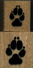 """mounted rubber stamps   Wolf track set of 2     1"""" X 1"""" & 3/4"""" X 3/4"""""""