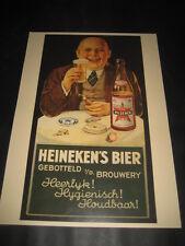 Poster Werbung Bier Heineken completo