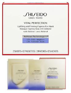 Valeur 74 € -Masque pour les yeux SHISEIDO VITAL PERFECTION 12 sachets 2 patches