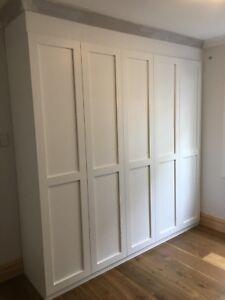 """Alpine 4.0"" 3pc Built In Wardrobe/Wall Unit Bedroom Furniture Hanging Robe"