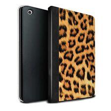 STUFF4 PU-Leder Hülle/Tasche für Apple iPad Mini 1/2/3/Leopard/Tierpelz Muster
